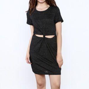 Honey Punch Dark grey T-shirt Dress
